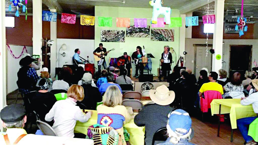 The Hispanic Music Festival with Guitarras Volando, Trio Los Amigos, and Mariachi Nuevo Sonido garnered more than 120 people, who enjoyed enchiladas, posole, beans and biscochitos in addition to the musical performance. Photo courtesy of the Manzano Mountain Art Council.