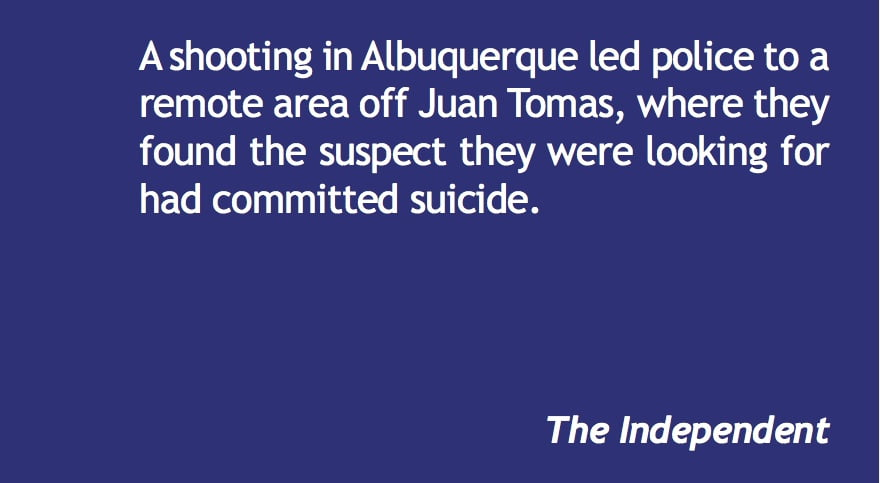 Shooting suspect commits suicide