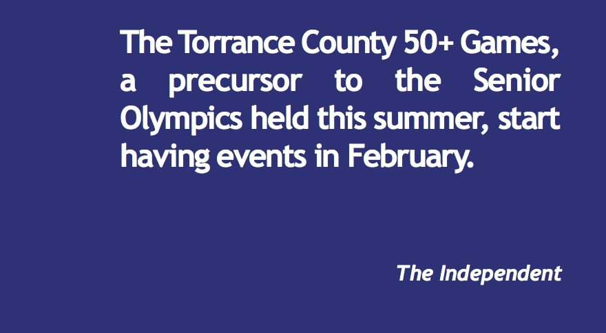 Torrance County  50+ Games due