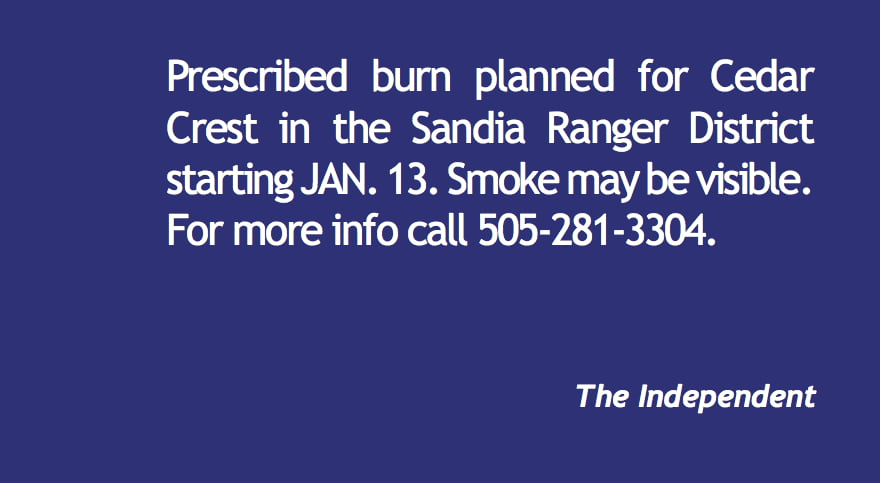 Prescribed burn planned for Cedar Crest