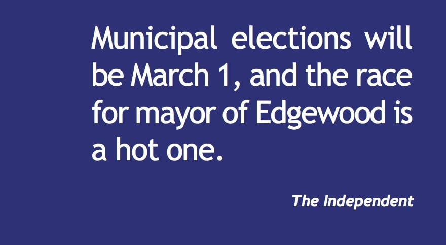 Edgewood mayor's race is a hot one