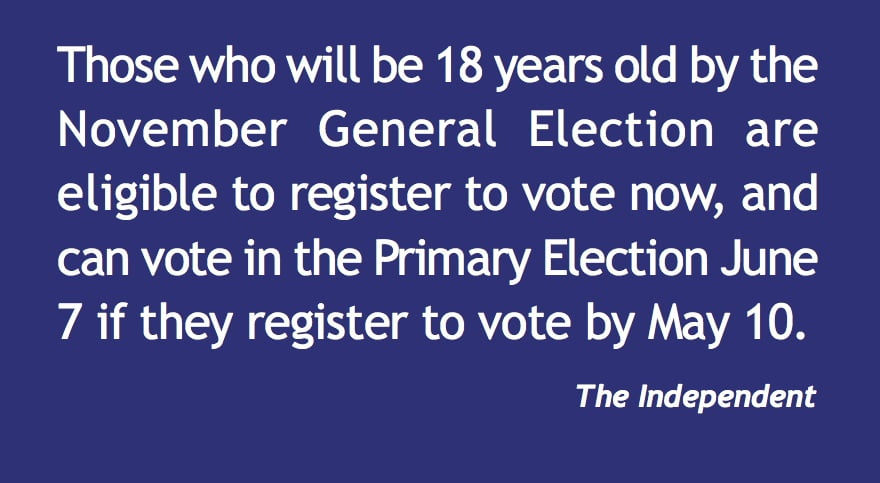 Want to vote in the primary? Register now