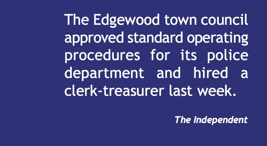 Edgewood hires clerk-treasurer