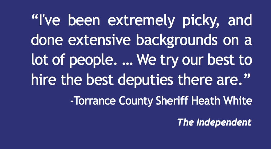 Torrance County sheriff's department is fully staffed