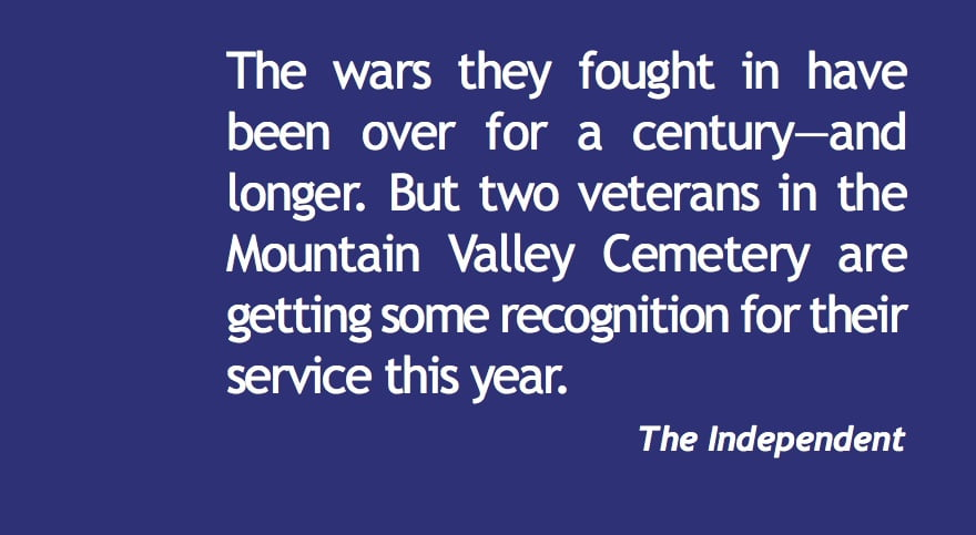 Veterans recognized—100 years after the war ended