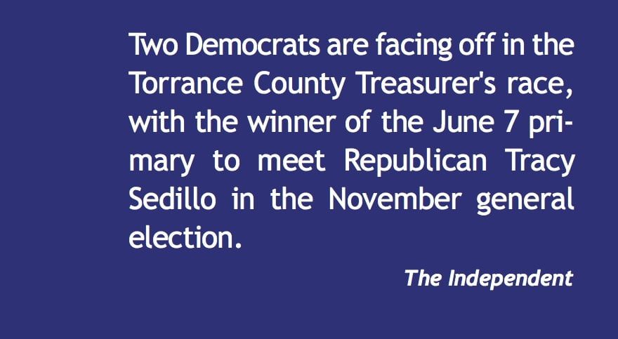 Two Democrats seek Torrance County Treasurer's office