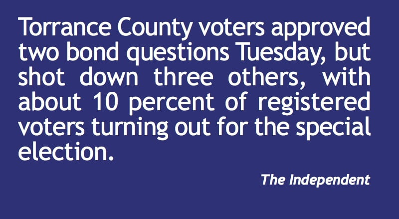 Voters approve two Torrance County bonds