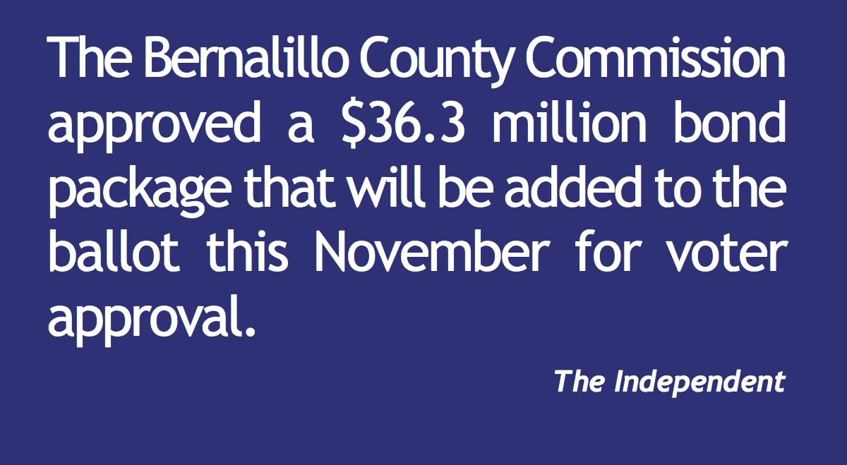 Bernalillo County puts $36.3 million bonds on ballot