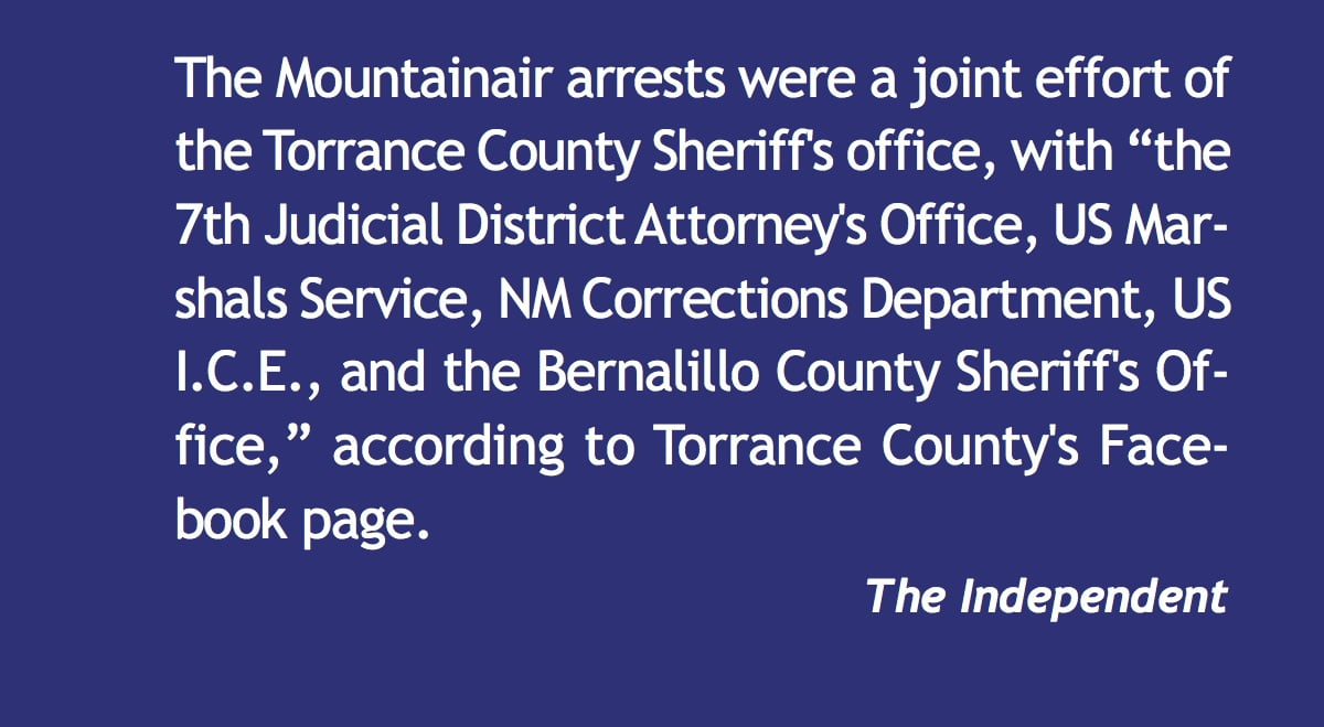 Arrests in Mountainair burglaries