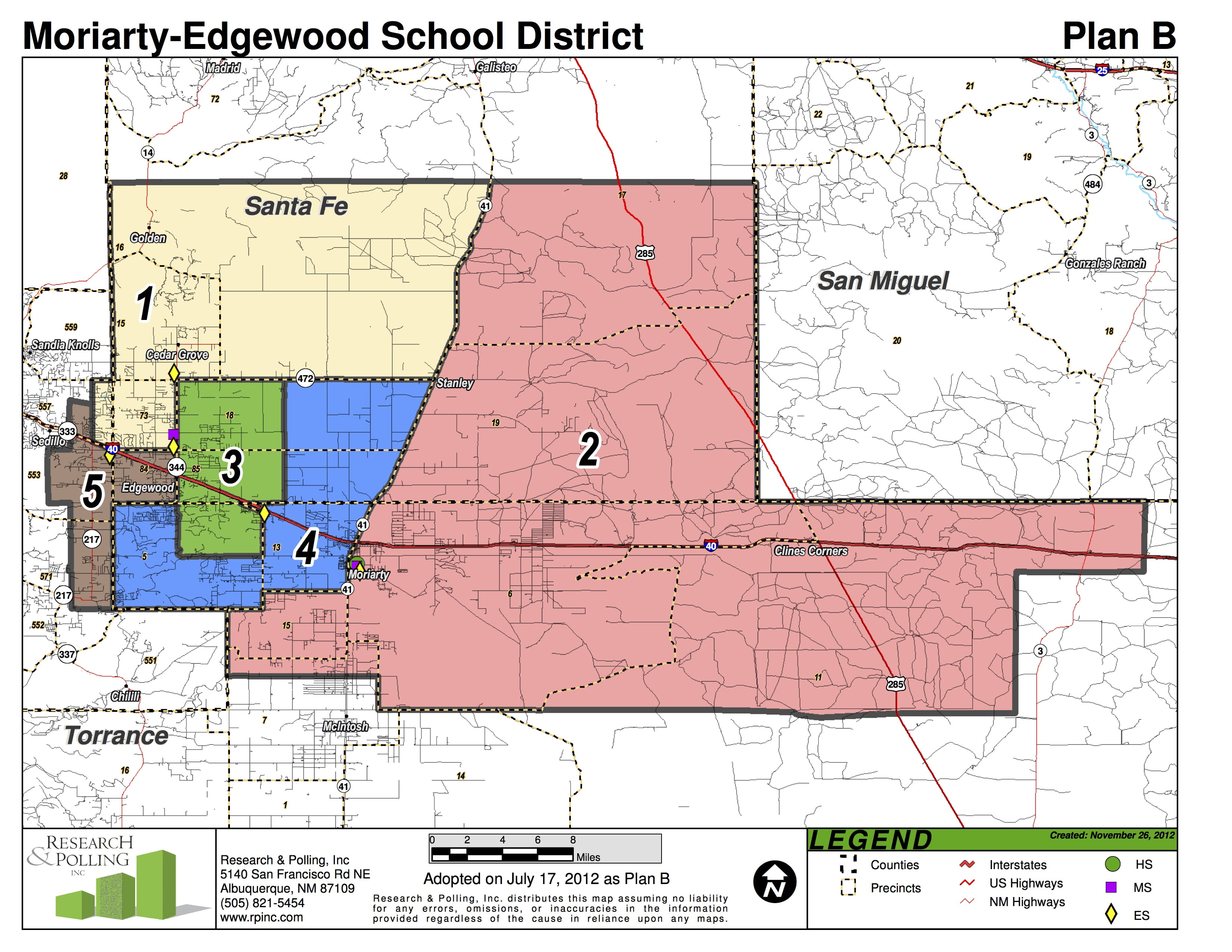 Moriarty-Edgewood School District board vacancy: seeking applicants