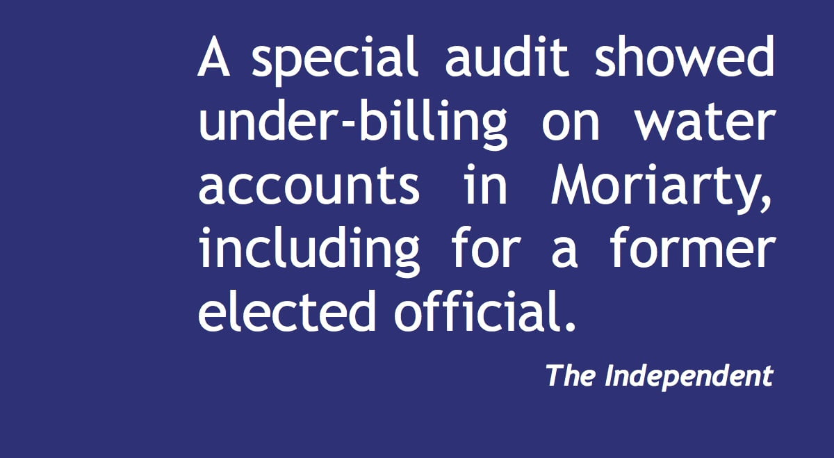 Special audit showed under-billing in Moriarty