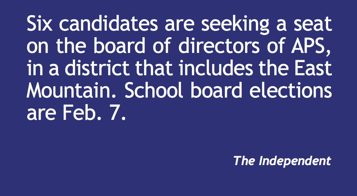 APS board: Six seek position serving East Mtns