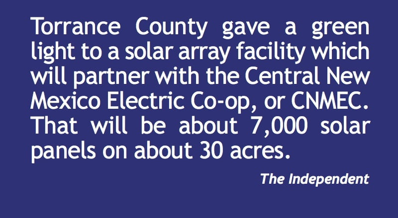 Torrance County approves solar array