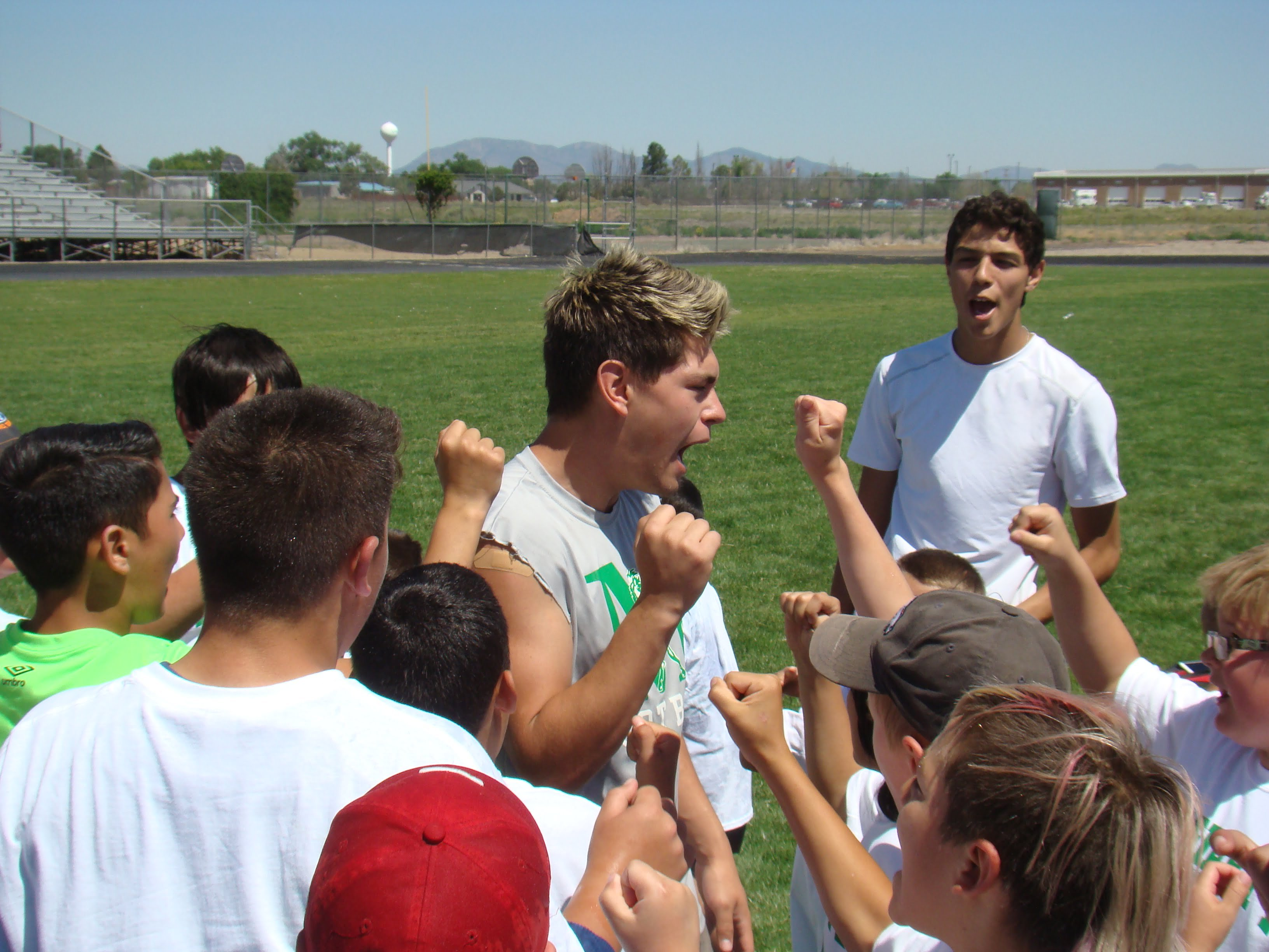 Pintos football camp focuses on fun, fundamentals and 'the gauntlet'