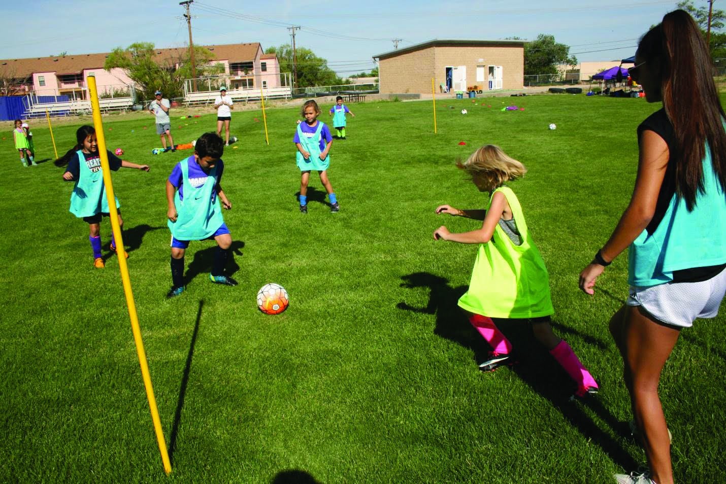 Manzano Soccer Camp: Partnering older students with younger to pass on their drive