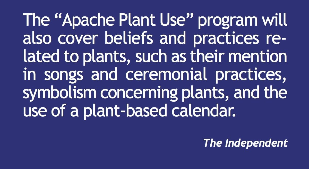 Apache plant uses, beliefs to be shared at history event