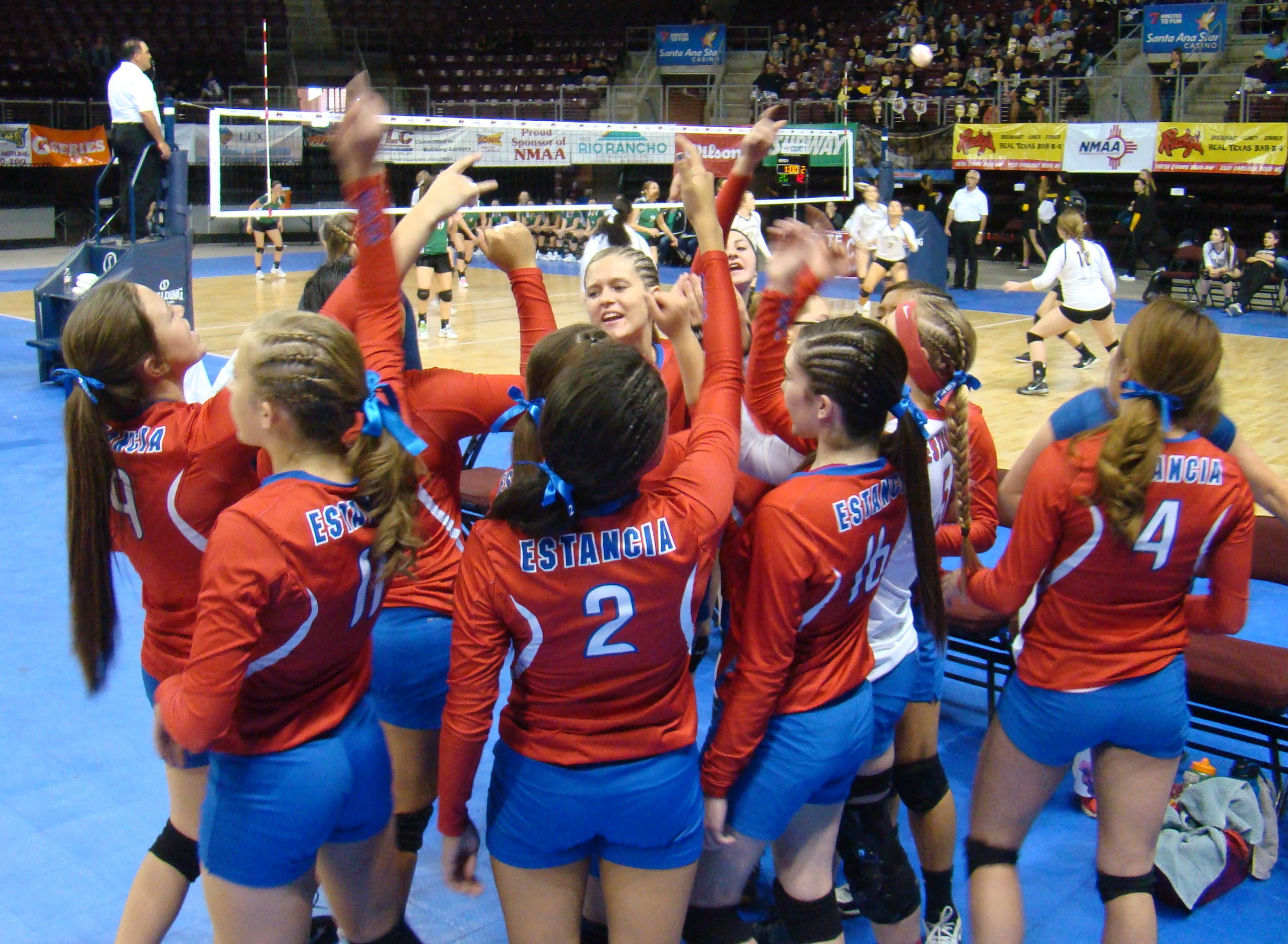 Estancia's volleyball team sweeps Desert Academy before loss in semis