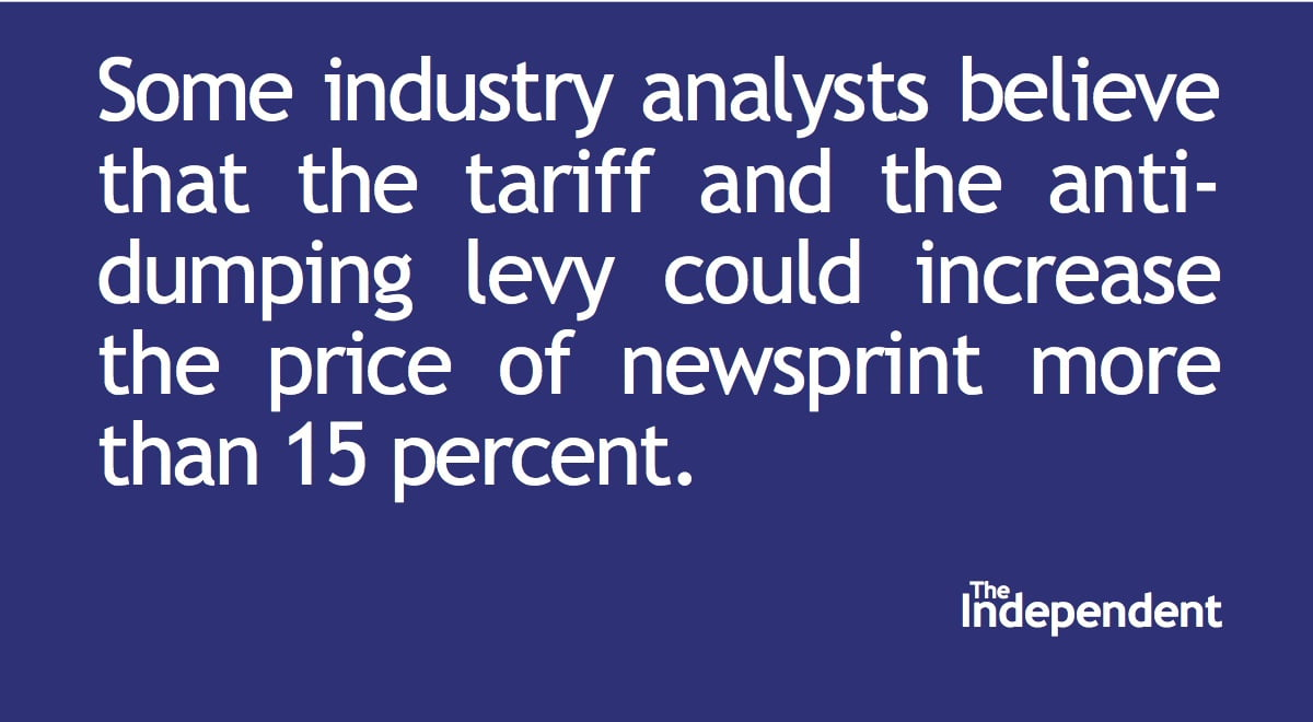 Editorial: Tariff on newsprint harms small newspapers