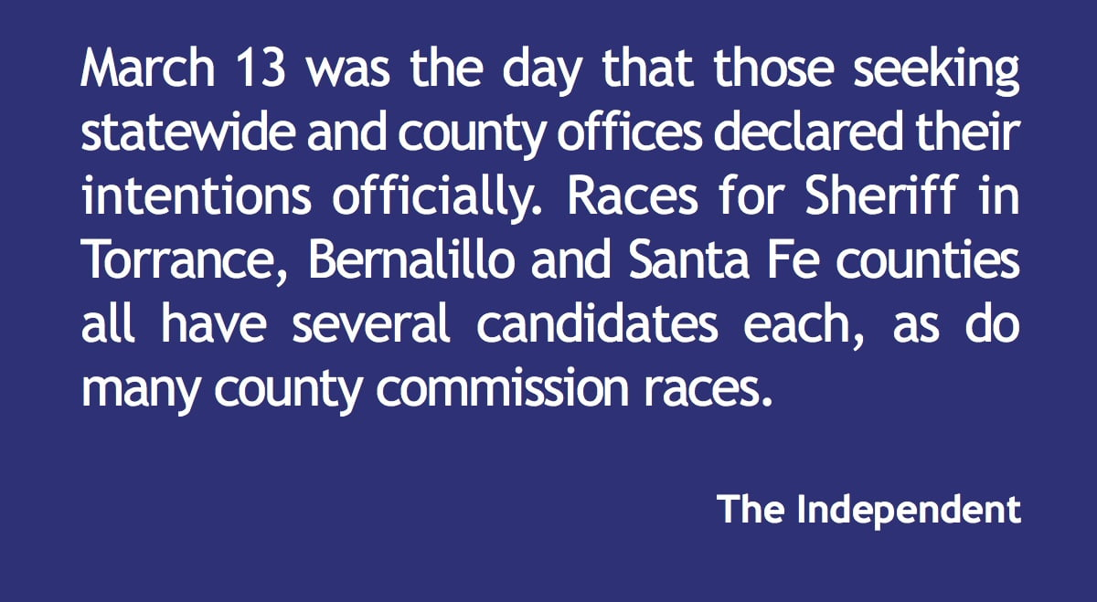 Candidates for state and county offices declare