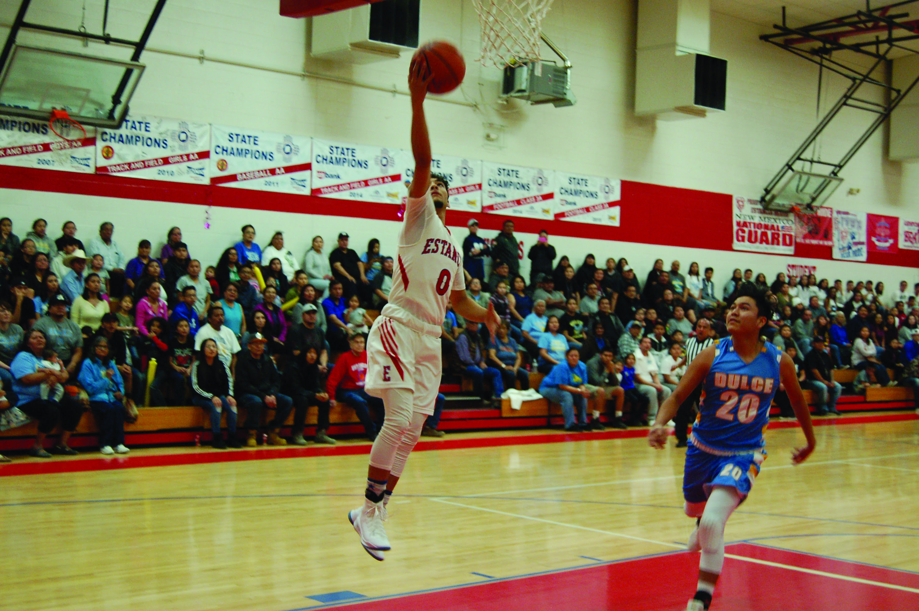 Estancia boys cruise to first-round state victory over Dulce