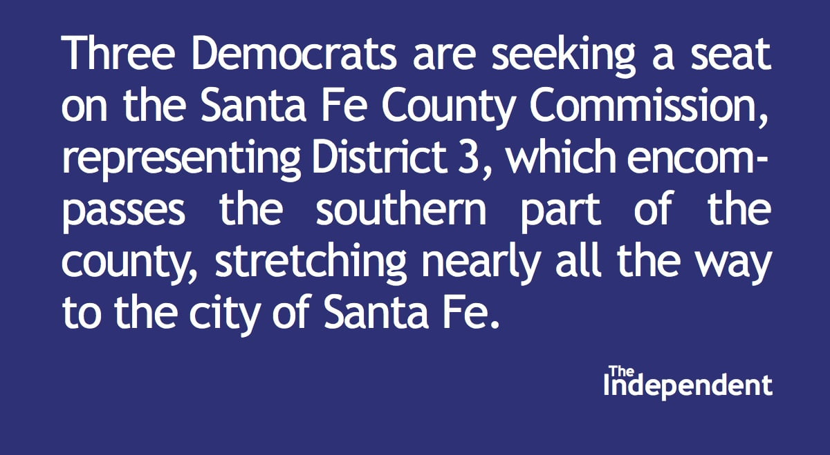Three Democrats seek Santa Fe commission seat