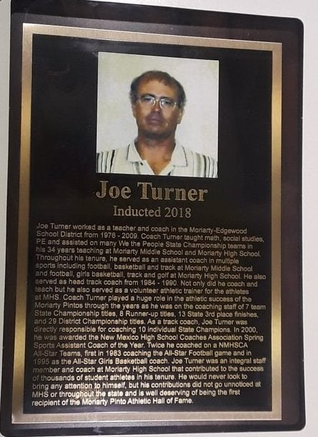 Turner first inductee to Moriarty Athletic Hall of Fame