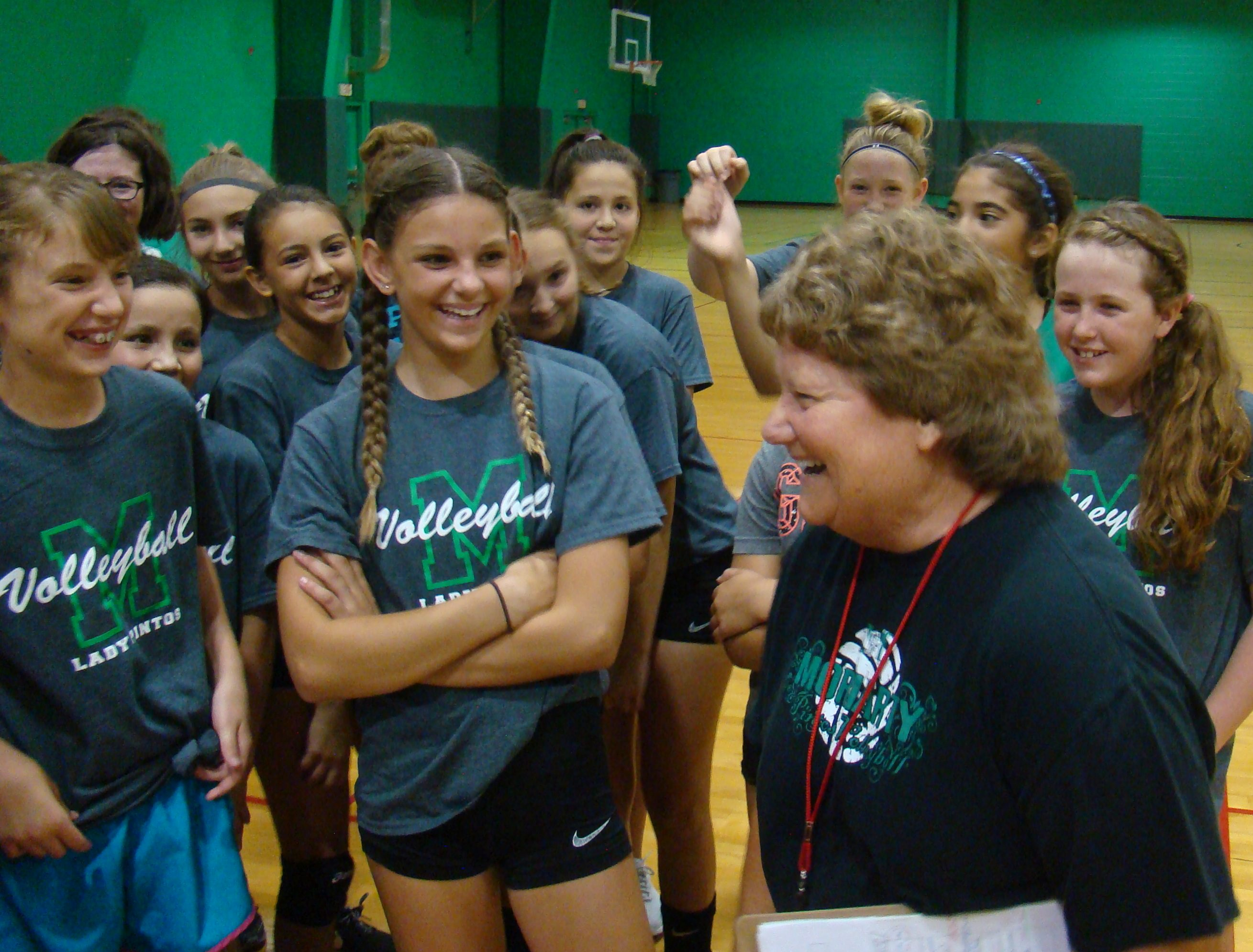Kim Bell's camp aims to get kids hooked on Pintos volleyball