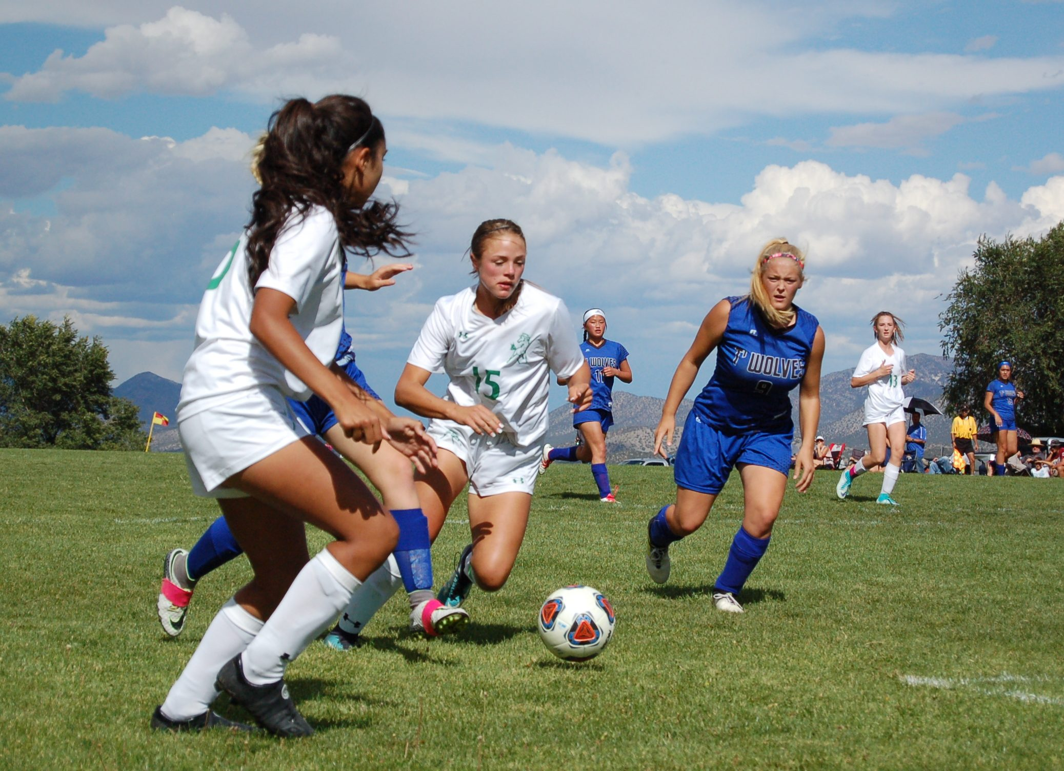 East Mountain girls soccer gets inaugural victory over Moriarty in lightning-shortened match