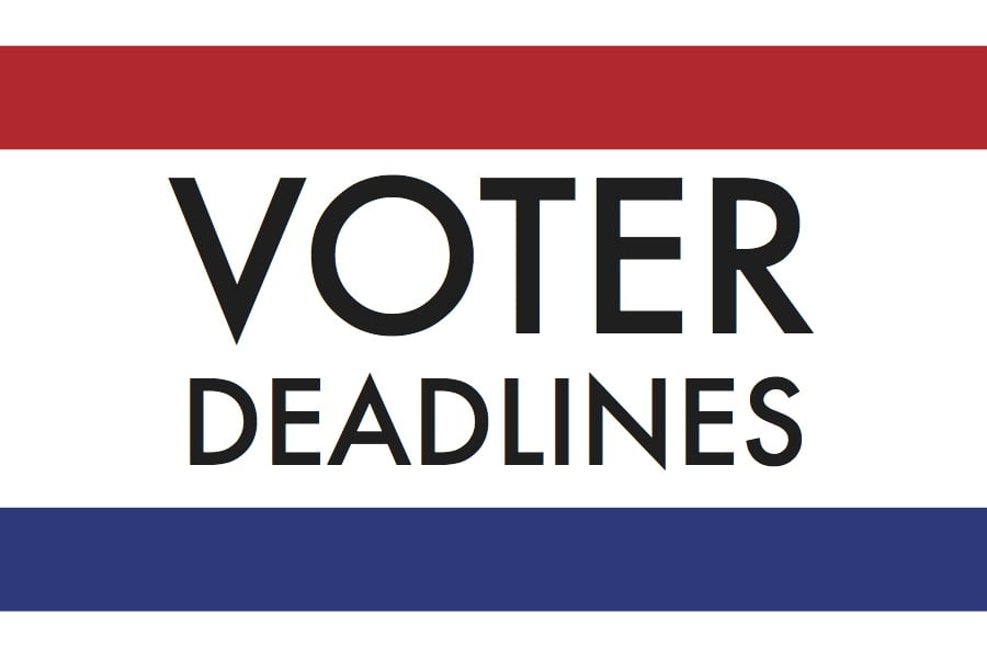 Voter deadlines loom for general election