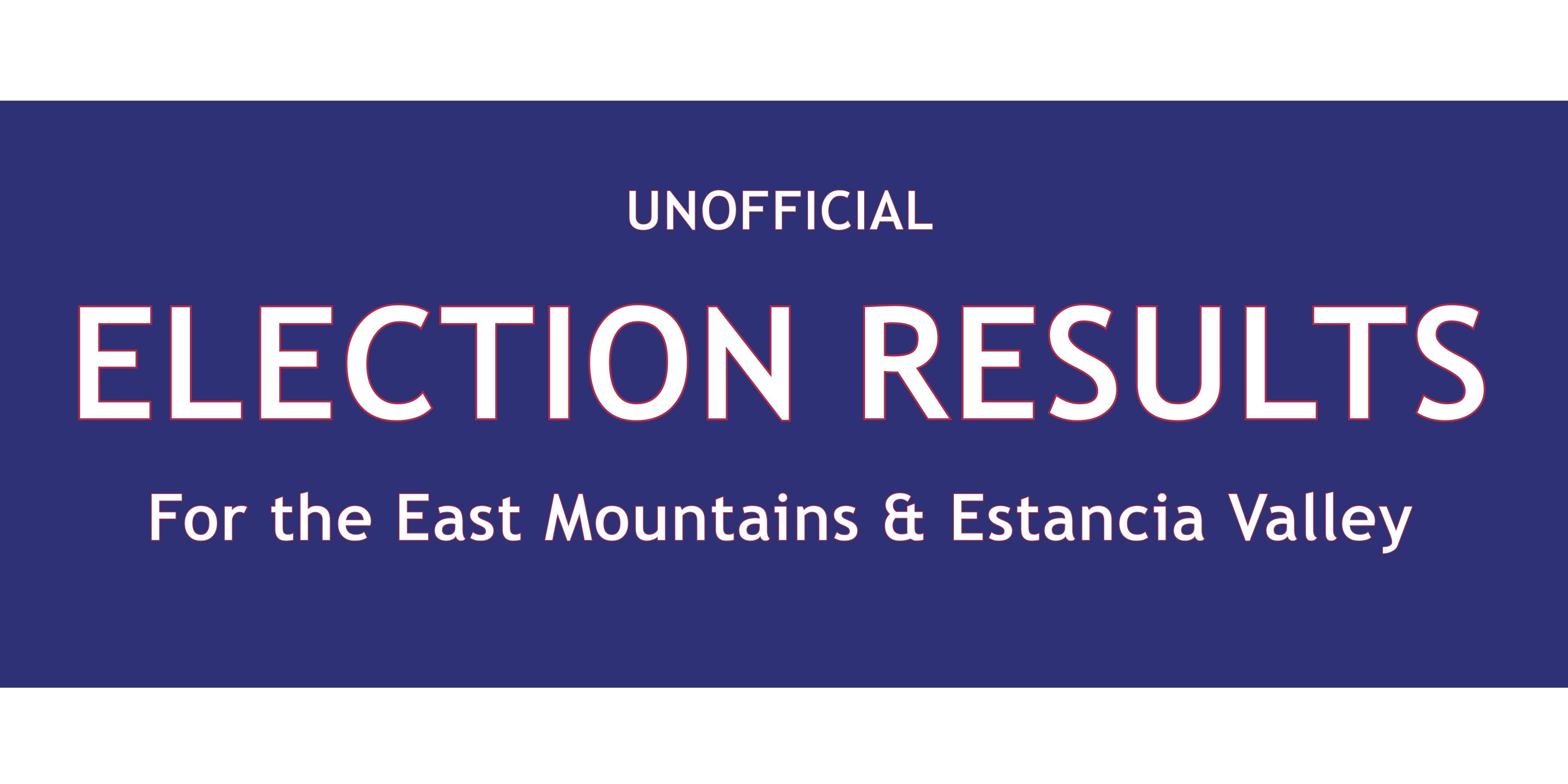 Early, unofficial vote results for Bernalillo and Torrance counties