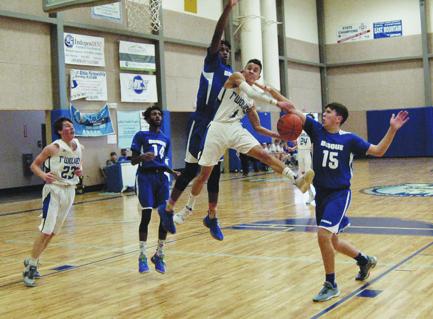East Mountain Timberwolves top Bosque, 61-50