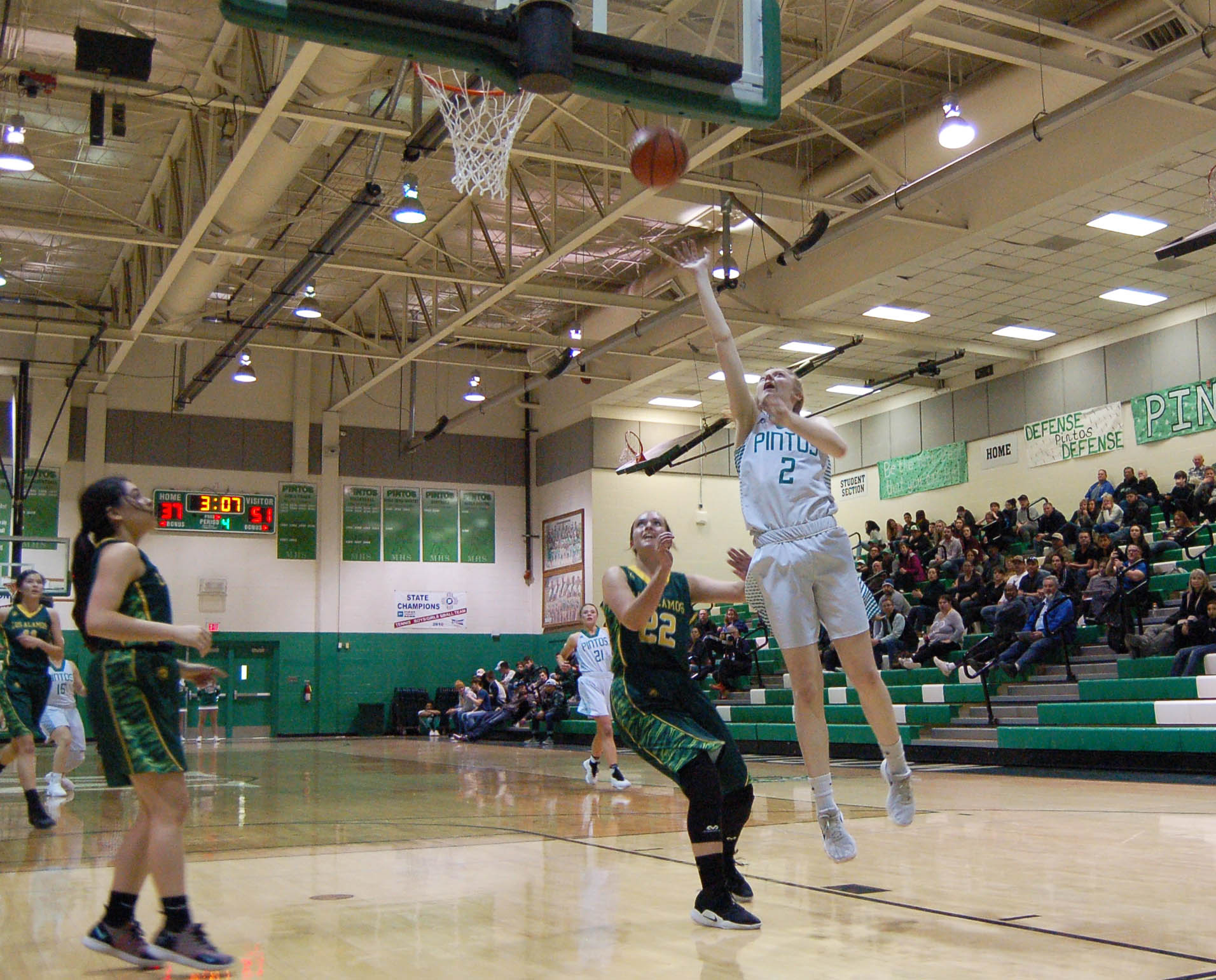 Lady Pintos fall to Los Alamos Hilltoppers