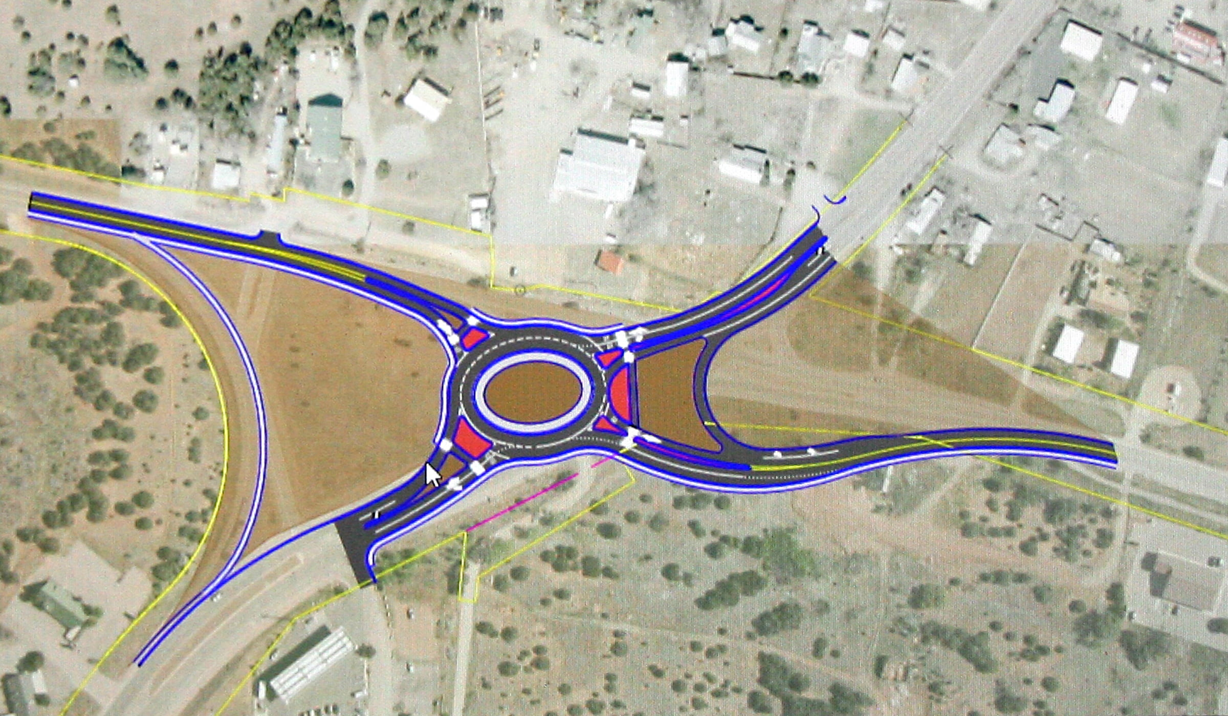 N14: More paving, roundabout (someday)
