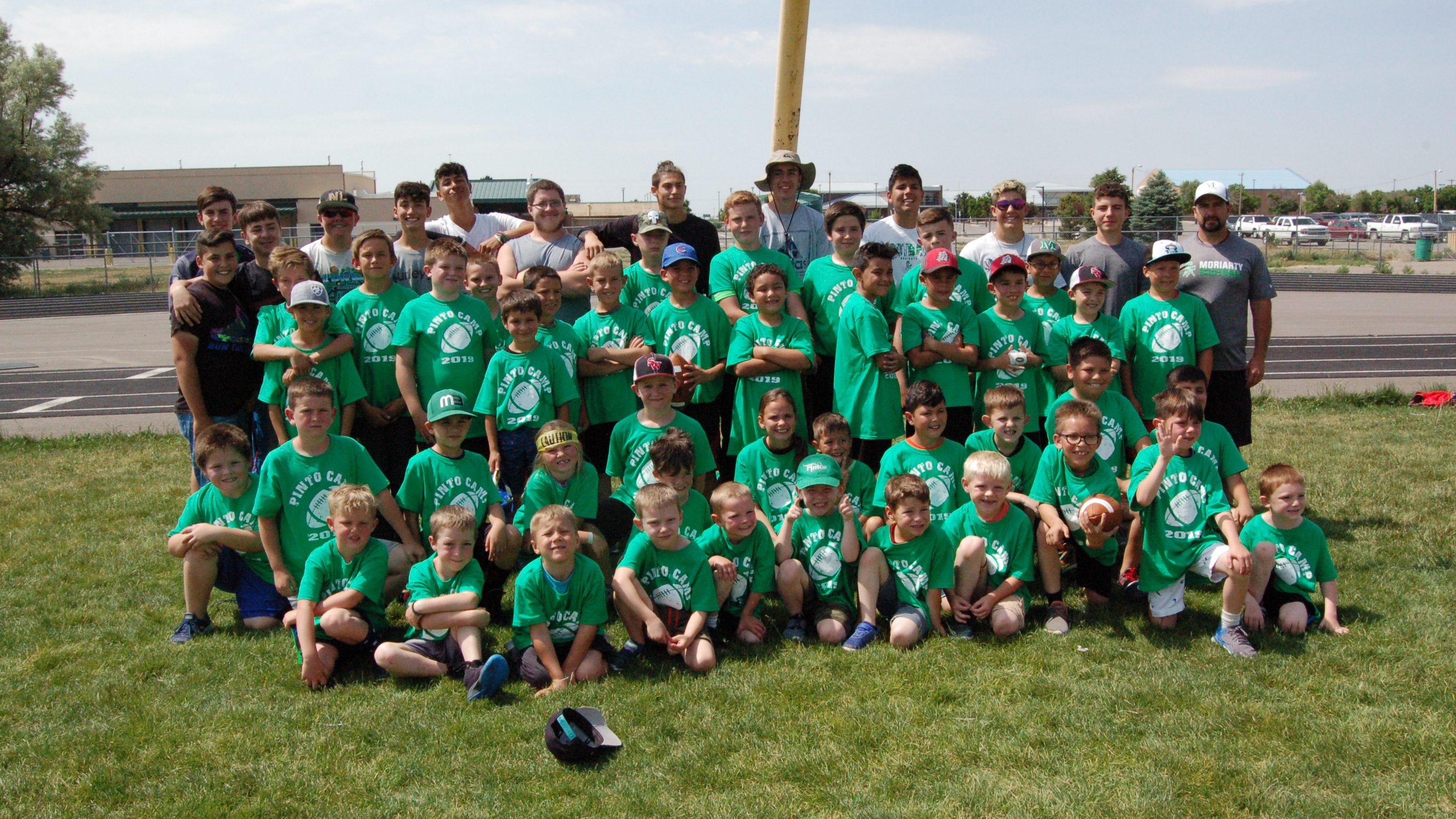 Moriarty High School football camp: getting kids to love football and to want to be Pintos