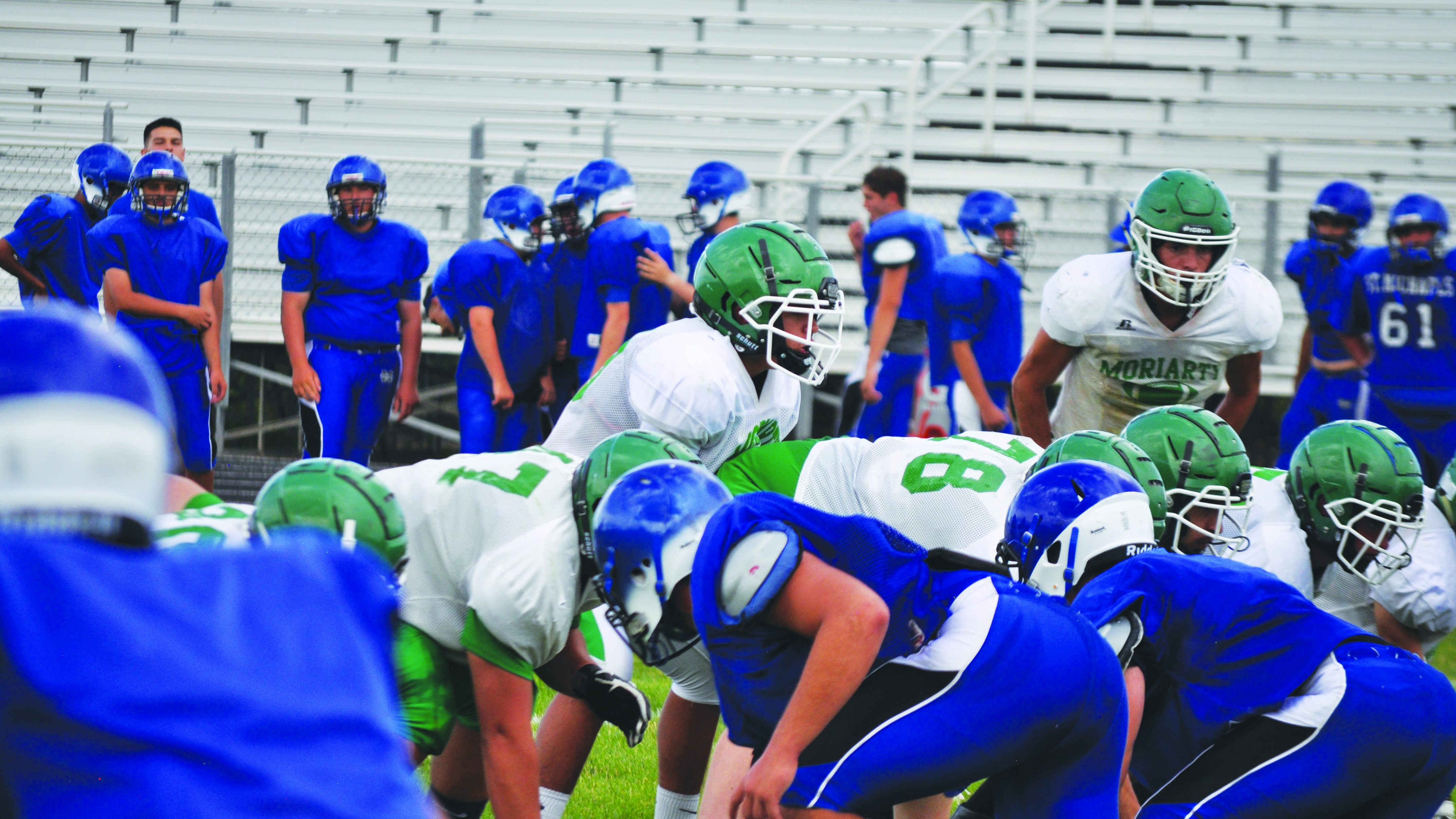 Estancia and Moriarty host scrimmages to gear up for football season