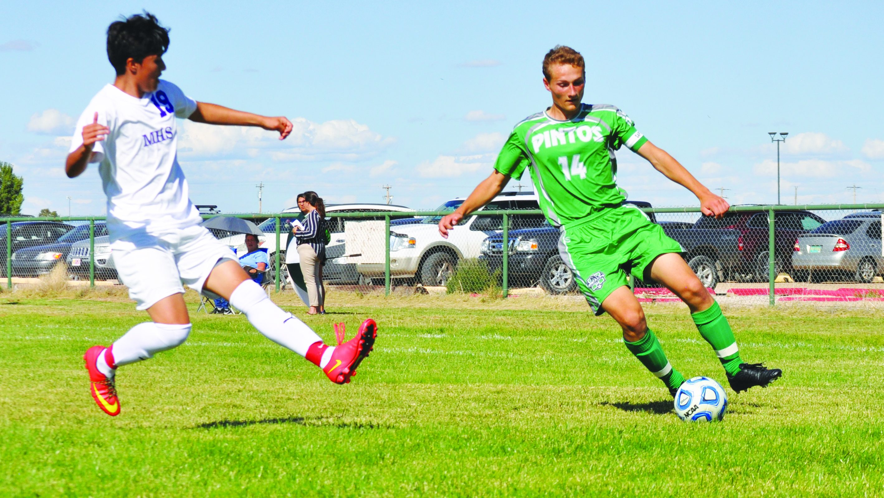 Two first half goals lift Pintos over Manzano