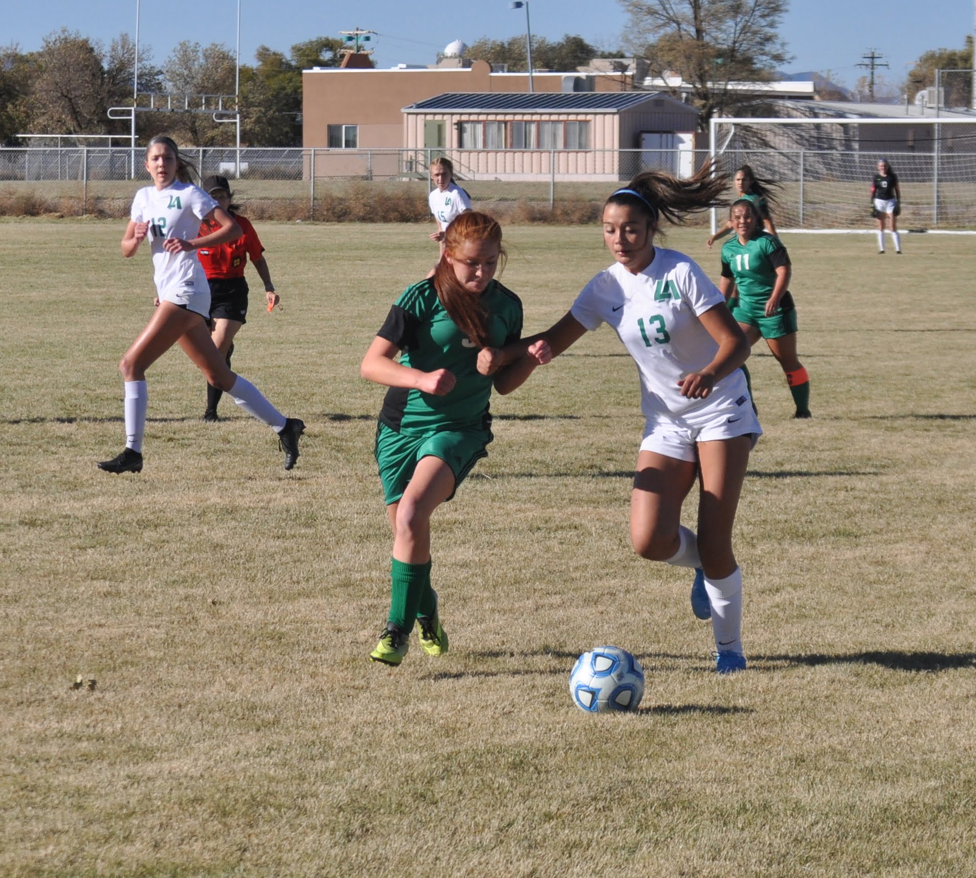 Los Alamos tops Moriarty girls soccer in Lady Pintos' final home game