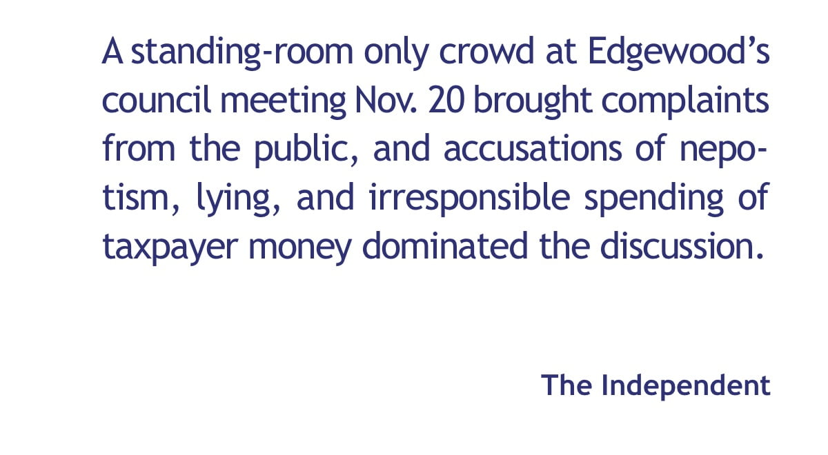 Accusations fly at heated Edgewood meeting
