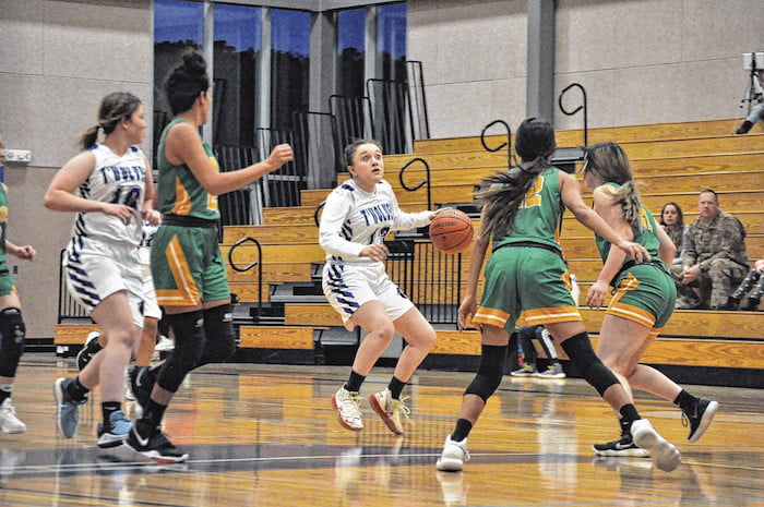 East Mountain girls basketball overwhelmed by Pecos Lady Panthers in home opener