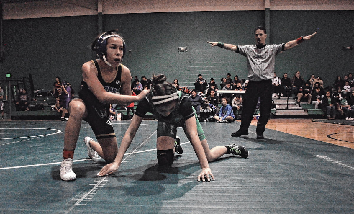 Moriarty's female grapplers garner medals at first-ever girls-only Pinto Duals