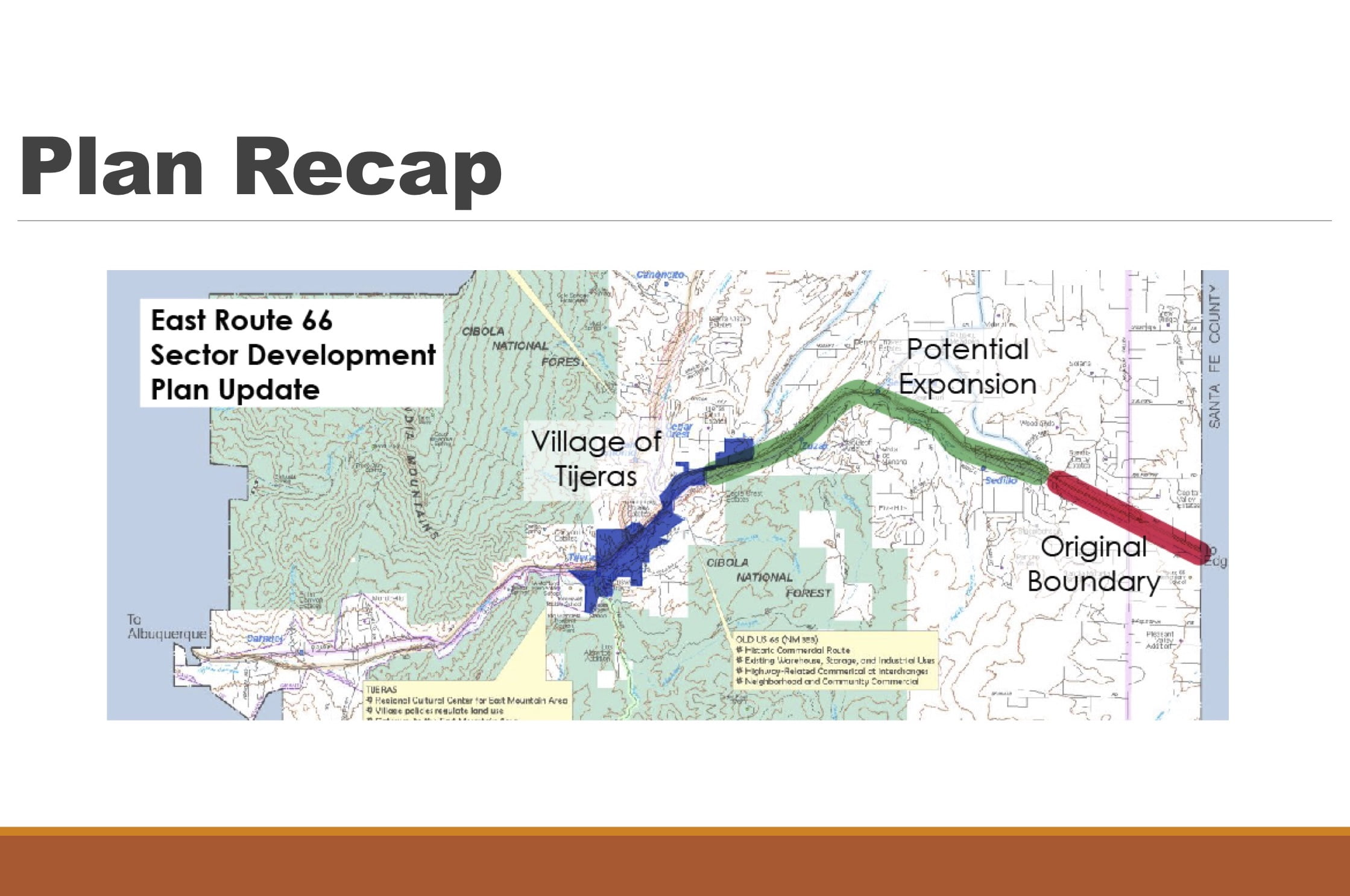 Another step toward county Route 66 Sector Development Plan