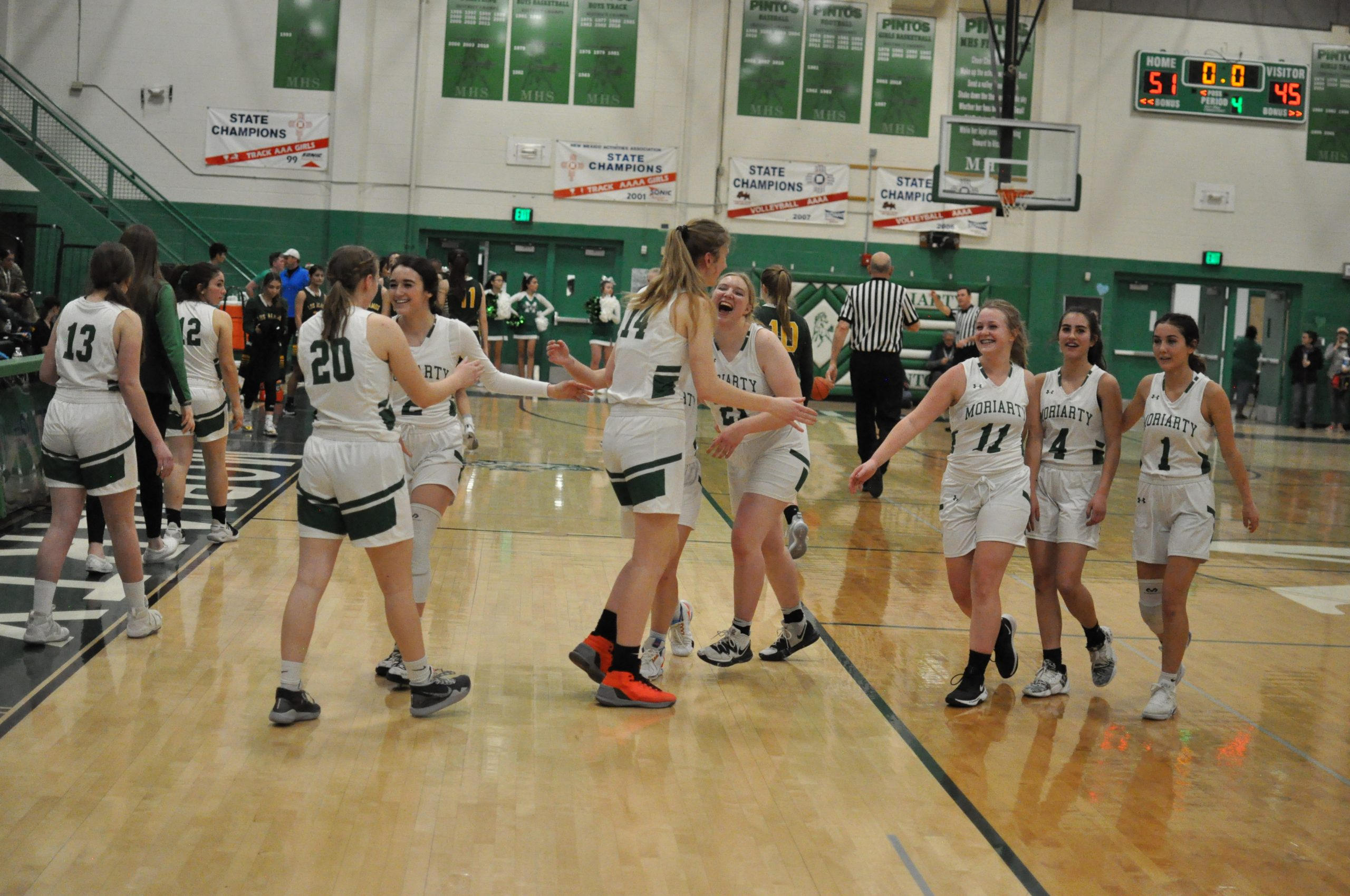 Eleven 3-pointers and a birthday propel Lady Pintos to first home win