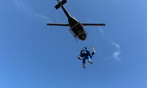 Airlift training turns into airlift rescue