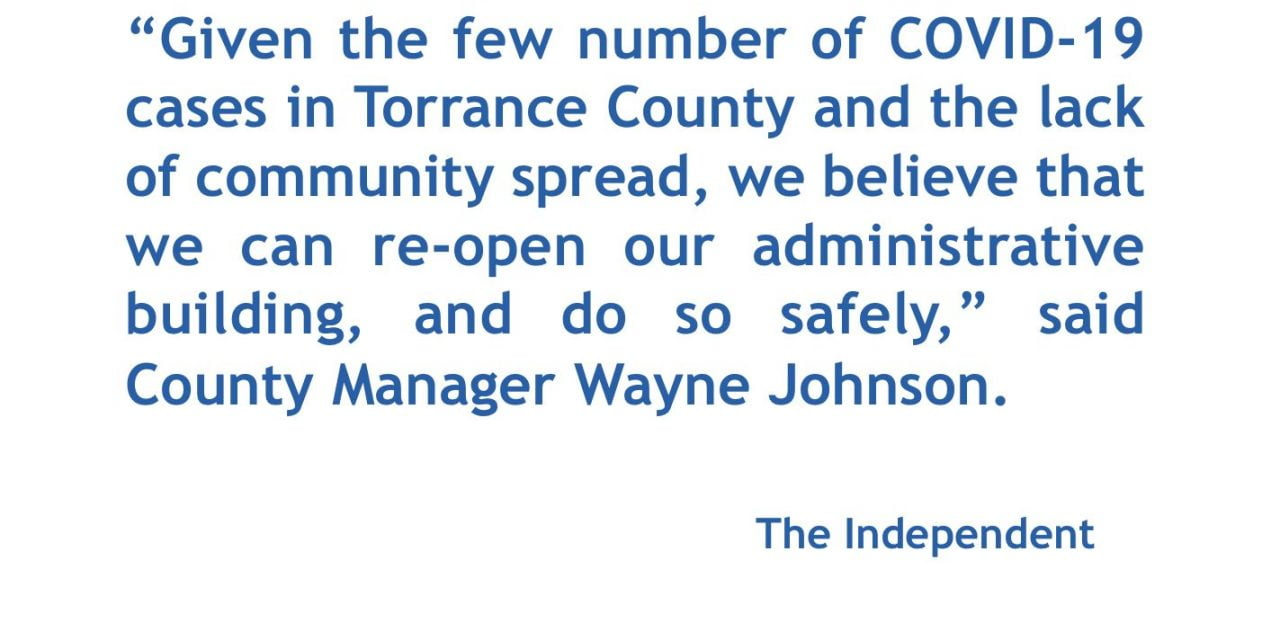 Torrance County to re-open to the public May 1