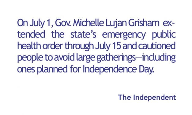 Governor says stay home for the 4th