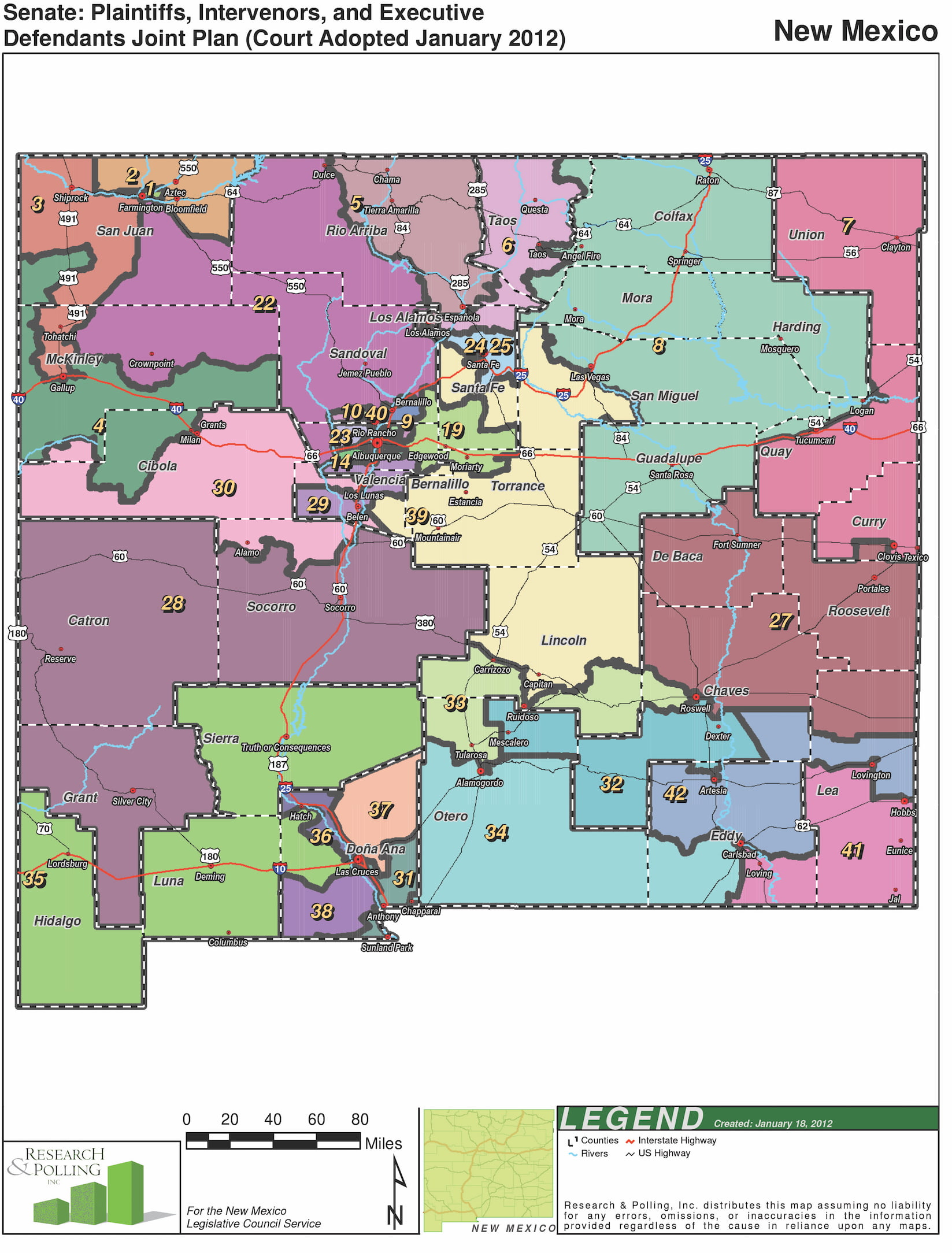 NM Senate Districts