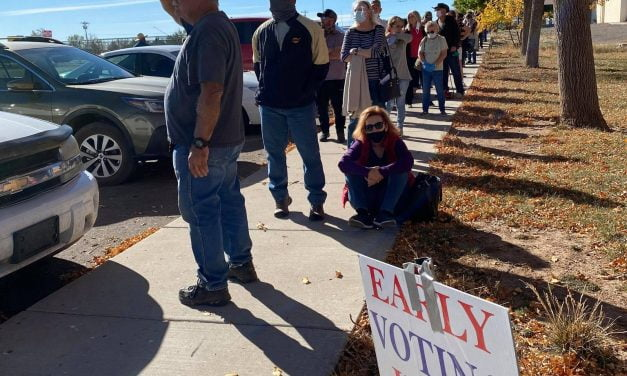 Long lines for early voting