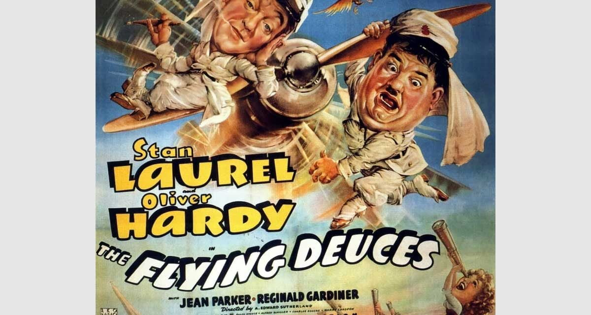 Free Movies in the Mountains (in Exile) suggests Laurel & Hardy in Flying Deuces