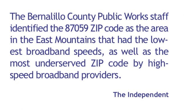 Commissioner Pyskoty Introduces Broadband FAQ and Email List for East Mountains