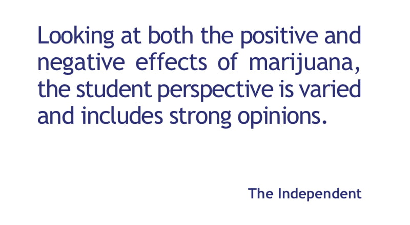 Legalizing recreational pot from the student perspective